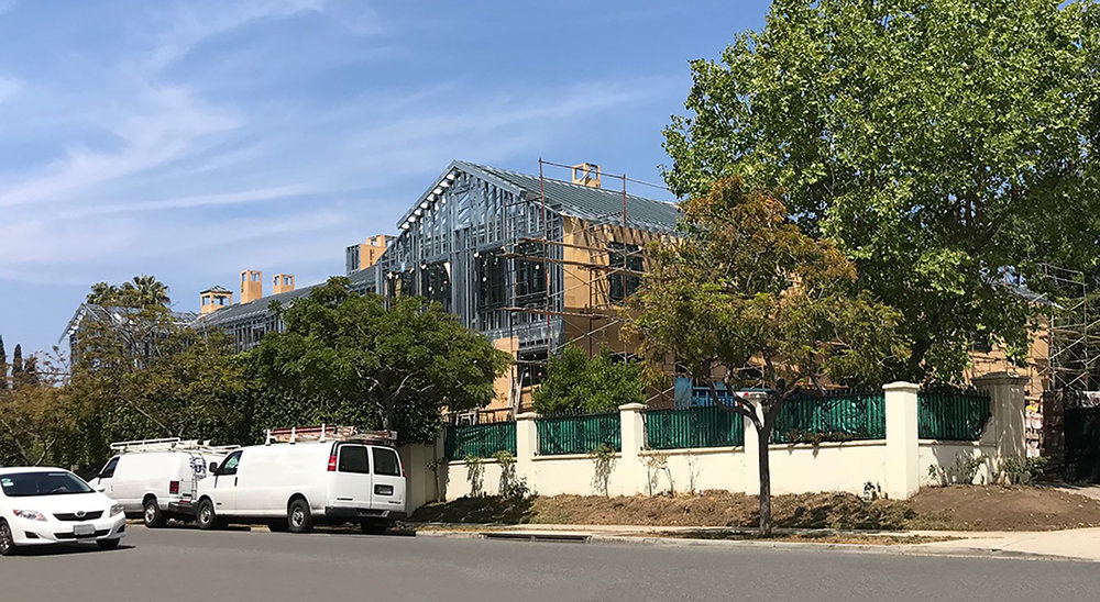 Construction of a new home in Beverly Hills